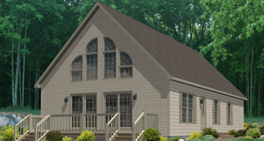 Artist's Rendering of The Baycrest Cape-Cod Style Modular Home (Pennwest Homes Model: HP107-A1)