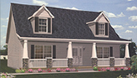 Wilmington Cape Cod Style Modular Home Pennwest Homes