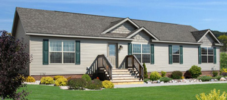 Artist's Rendering of The Pennflex Ranch II Modular Home (Pennwest Homes Model: HR170-A)