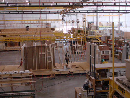 Homes Being Built On The Pennwest Homes Production Line