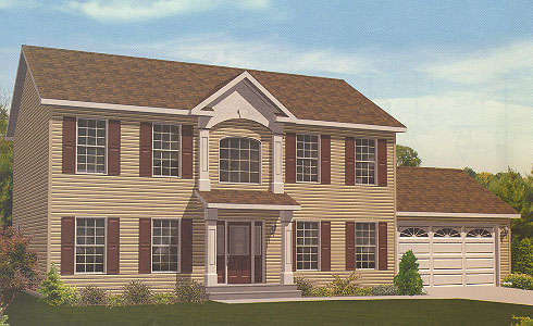 Artist's Rendering of The Bennington II Two Story Modular Home (Pennwest Homes Model: HS117-A)