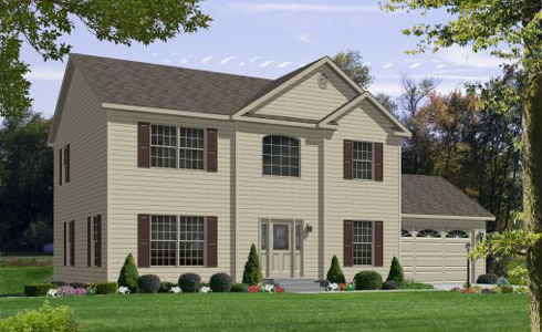 Artist's Rendering of The Harrington II Two Story Modular Home (Pennwest Homes Model: HS161-A)