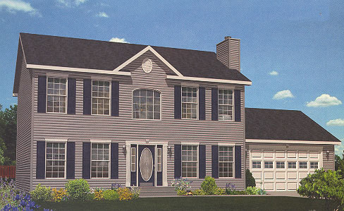 Artist's Rendering of The Providence Two Story Modular Home (Pennwest Homes Model: HS101-A)